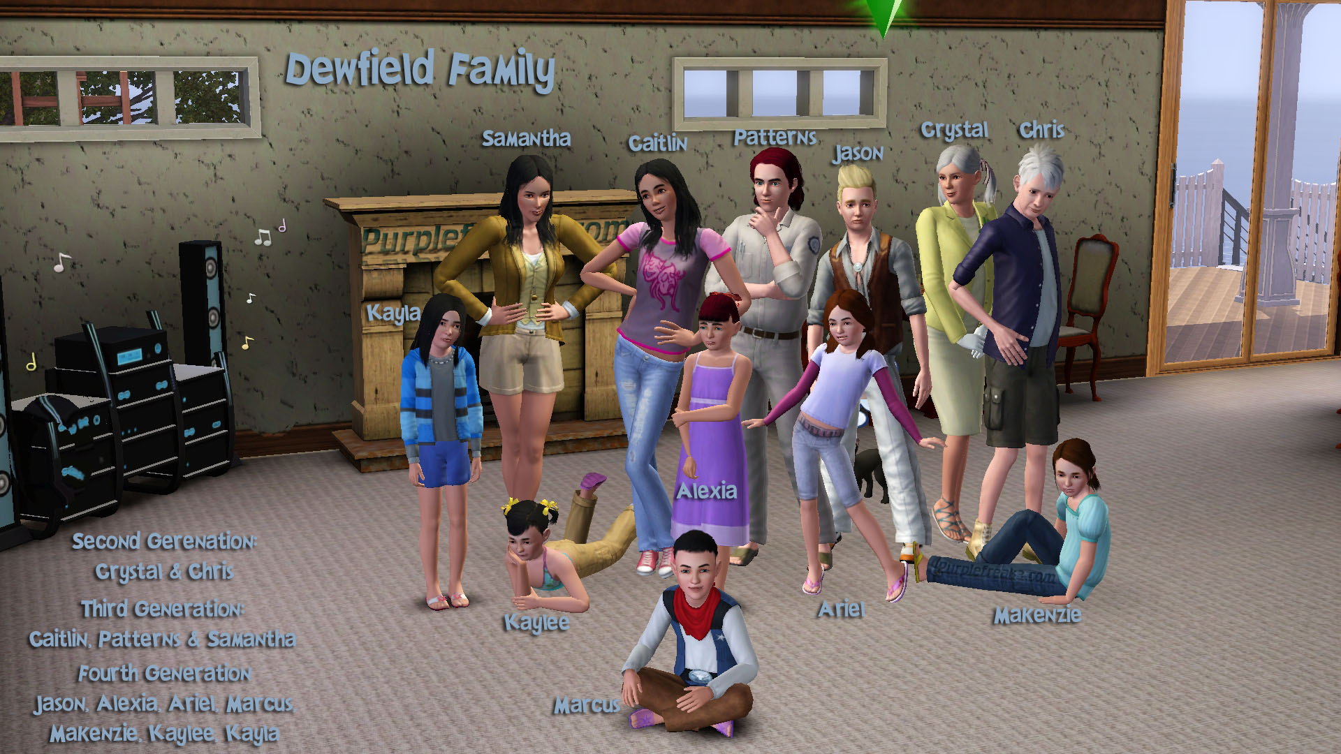 How do you play the sims forums for Family of 3 picture ideas