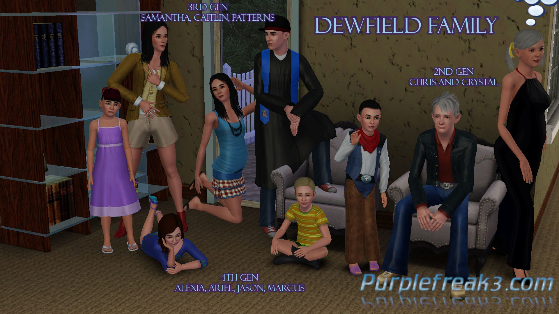 Sims 3 Dewfield Family Generations